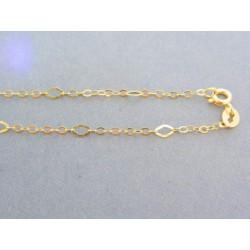 Zlatá retiazka žlté zlato tvorená z očiek DR50167Z
