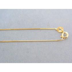 Zlatá retiazka dámska žlté zlato jemná DR45136Z