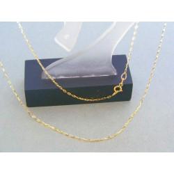 Zlatá dámska retiazka žlté zlato vzor pílka DR45102Z