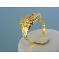 Zlatý pánsky prsteň žlté červené zlato znamenie škorpión DP63779V