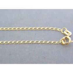 Zlatá retiazka žlté zlato oválne očká DR50160Z