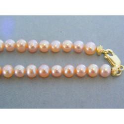 Zlatá retiazka žlté zlato perličky DR432241Z