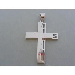 Prívesok krížik jemný vzor ch. oceľ VIKO1861