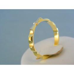 Zlatý prsteň ruženec žlté biele zlato DP65373V