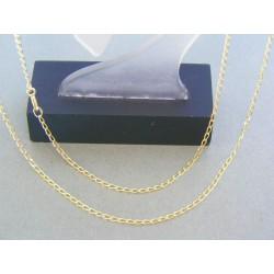 Zlatá retiazka žlté zlato oválne očká DR50235Z