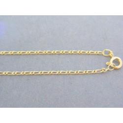 Zlatá retiazka žlté zlato očká okrúhle oválne DR45231Z