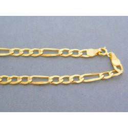 Zlatá retiazka žlté zlato vzor figáro DR555594Z