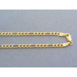 Zlatá retiazka žlté zlato vzor figára DR42341Z