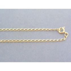 Zlatá retiazka oválne očká žlté zlato VR42309Z