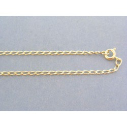 Zlatá retiazka žlté zlato oválne očká VR50364Z