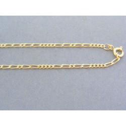Zlatá retiazka žlté zlato vzor figáro VR45483Z