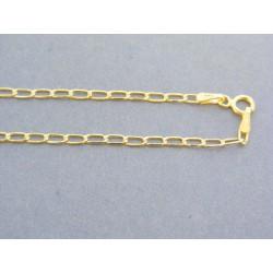 Zlatá retiazka žlté zlato oválne očká VR42128Z