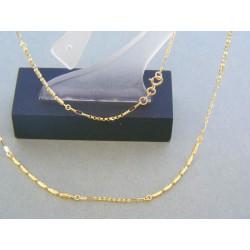 Zlatá retiazka dámska žlté zlato zaujímavy vzor DR45275Z