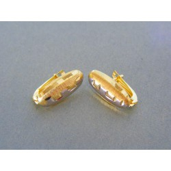 Zlaté dámske náušnice žlté biele zlato VA149V
