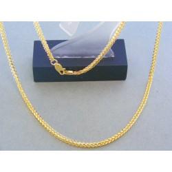 Zlatá retiazka zaujímavy prepletaný vzor žlté zlato DR50564Z
