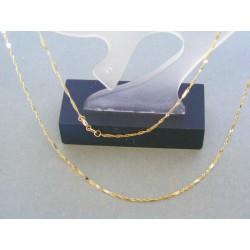 Zlatá retiazka žlté zlato male platničky DR45124Z