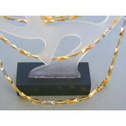 Zlatá retiazka dámska elegantný tvar žlté biele zlato DR611024V
