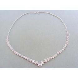 Zlatá dámska retiazka náhrdelnik biele zlato kamienky DR4451588B