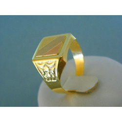 Zlatý pánsky prsteň žlté biele červené zlato VP67431V