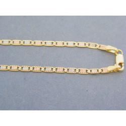 Zlatá retiazka male platničky žlté biele červené zlato DR455520V