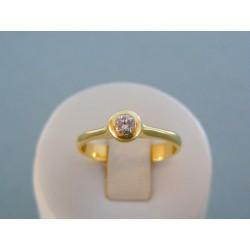 Zlatý dámsky prsteň s diamantom žlté zlato VP62443Z 14 karátov 585/1000 3,80g