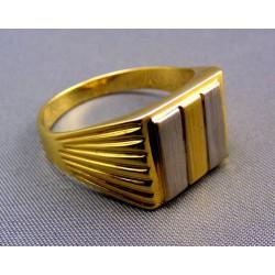 Pánsky prsteň viacfarebné zlato hranatý tvar Pánsky prsteň viacfarebné zlato  ... 8b42f0b6d0f