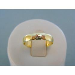 Zlatý prsteň ruženec žlté biele zlato DP54230V 14 karátov 585/1000 2.30g