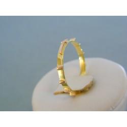 Zlatý prsteň ruženec žlté červené zlato DP61185V 14 karátov 585/1000 1.85g