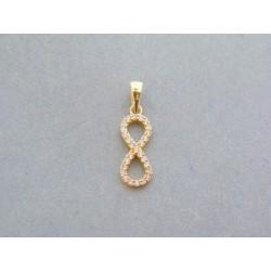 Zlatý prívesok dámsky žlté zlato kamienky VI095Z 14 karátov 585/1000 0.95g