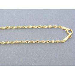 Zlatá retizka žlté zlato točená VR51287Z 14 karátov 585/1000 2.87g