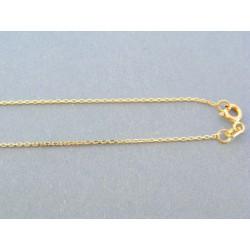 Zlatá retiazka dámska s príveskom anjel žlté biele zlato kamienky VA42281V 14 karátov 585/1000 2.81g