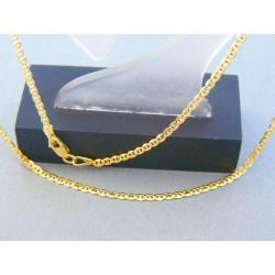 Zlatá retiazka žlté zlato oválne očká predelené VR45267Z 14 karátov 585/1000 2.67g