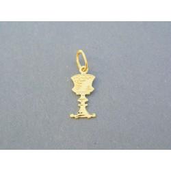 Zlatý prívesok kalich vzorovaný žlté zlato VI040Z 14 karátov 585/1000 0.40g