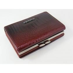 Dámska kožená peňaženka bordová V01-09Bordo
