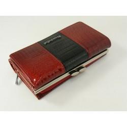 Dámska kožená peňaženka červená farba D04-12Rosso