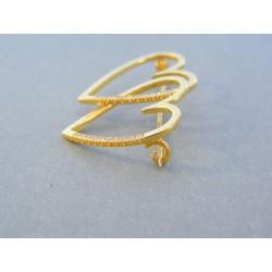 Zlatá dámska brošňa žlté zlato kamienky VB386Z 14 karátov 585/1000 3.86g