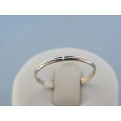 Zlatý prsteň ruženec biele zlato jemný tvar DP550095B 14 karátov 585/1000 0.95g