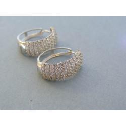 Zlaté dámske náušnice biele zlato kruhy kamienky DA507B 14 karátov 585/1000 5.07g