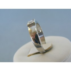 Dámsky prsteň ch. oceľ štvorcový zirkón DPO57263 316L 2.63g