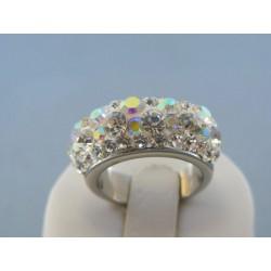 Dámsky prsteň ch. oceľ kamienky swarovského DPO571192 316L 11.92g