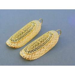 Zlaté dámske náušnice žlté zlato vzorované VA671Z 14 karátov 585/1000 6.71g