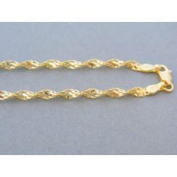 Zlatá retiazka žlté zlato točený vzor DR565592Z 14 karátov 585/1000 5.92g