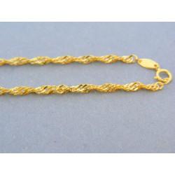 Zlatá retiazka žlté zlato vzor singapúr DR45185Z 14 karátov 585/1000 1.85g