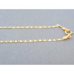 Zlatá retiazka žlté červené zlato platničky DR42196V 14 karátov 585/1000 1.96g