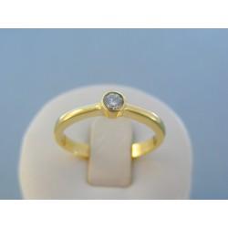 Zlatý dámsky prsteň žlté zlato diamant VP63385Z 14 karátov 585/1000 3.85g
