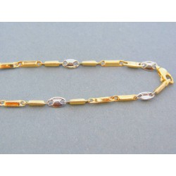 Zlatá retiazka kombinácia žlté biele zlato VR55537V 14 karátov 585/1000 5.37g