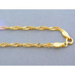 Zlatá retiazka žlté zlato vzor singapúr DR46218Z 14 karátov 585/1000 2.18g