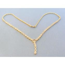 Zlatá dámska retiazka náhrdelnik žlté zlato kamienky VR431128Z 14 karátov 585/1000 11.28g