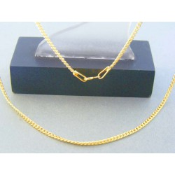 Zlatá retiazka vzor pancier žlté zlato DR45211Z 14 karátov 585/1000 2.11g
