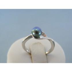 Strieborný dámsky prsteň perla DPS53231 925/1000 2.31g